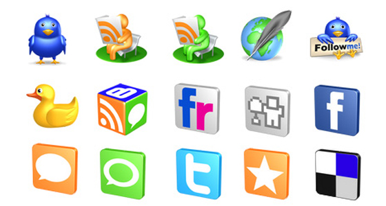 Web2.0 website icons 3D models