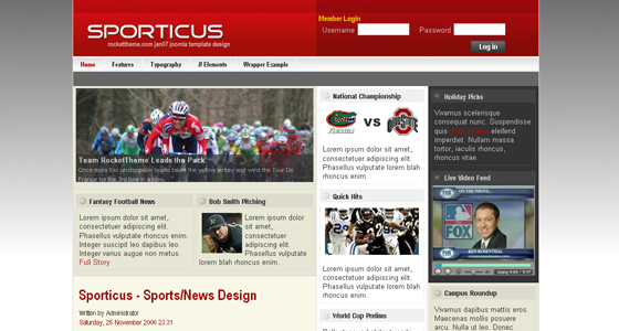 Fresh Joomla Sports templates