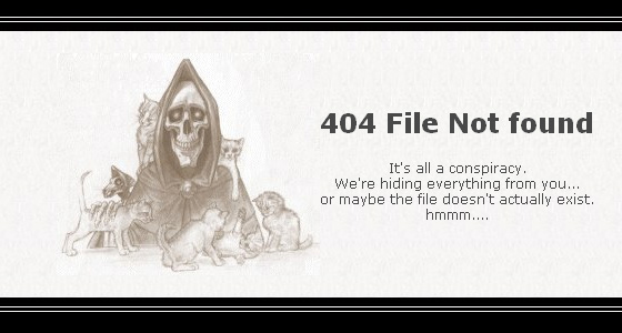 Collection of best 404 Pages