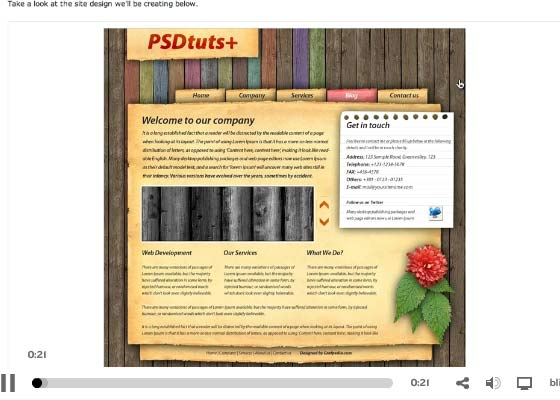 Photoshop Weblayout Video Tutorials