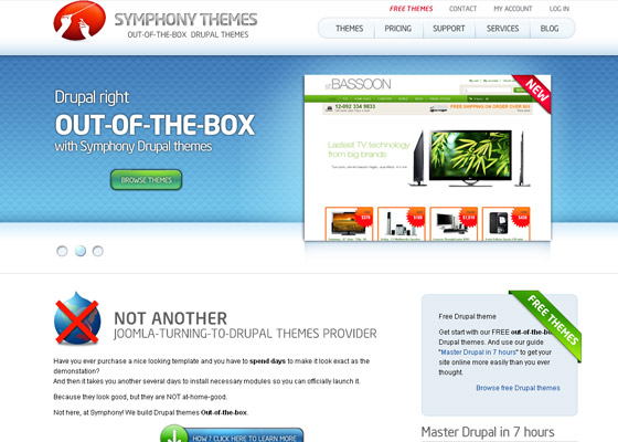 Best Drupal Themes Providers