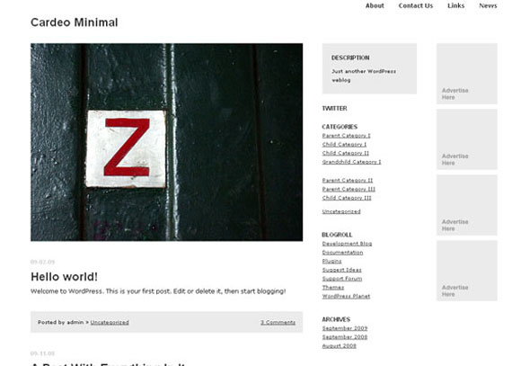 Cardeo Minimal WordPress Theme