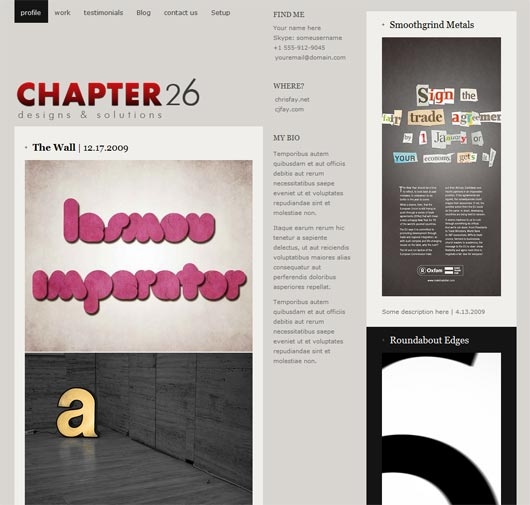Chapter26 WordPress Theme