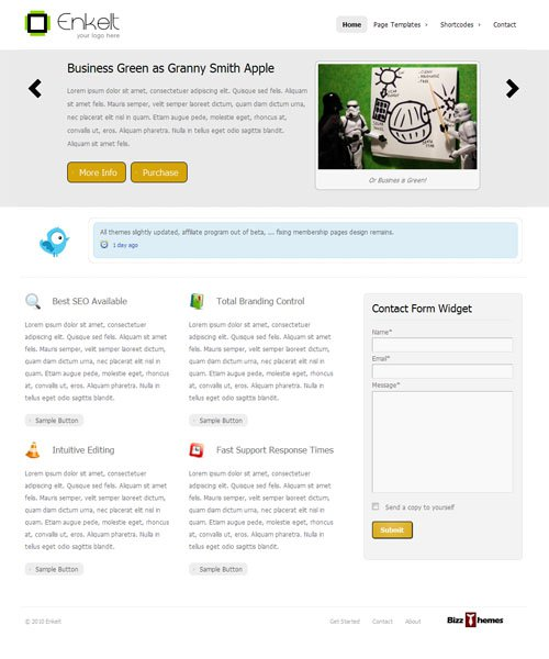 Enklet WordPress Theme