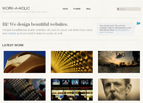 Work a Holic Portfolio WordPress Theme