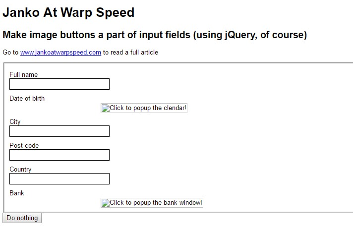 jQuery Form Plugins