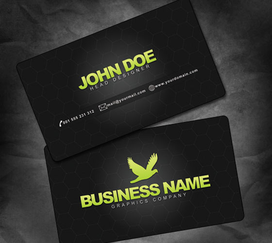Free business card psd template accmission Image collections