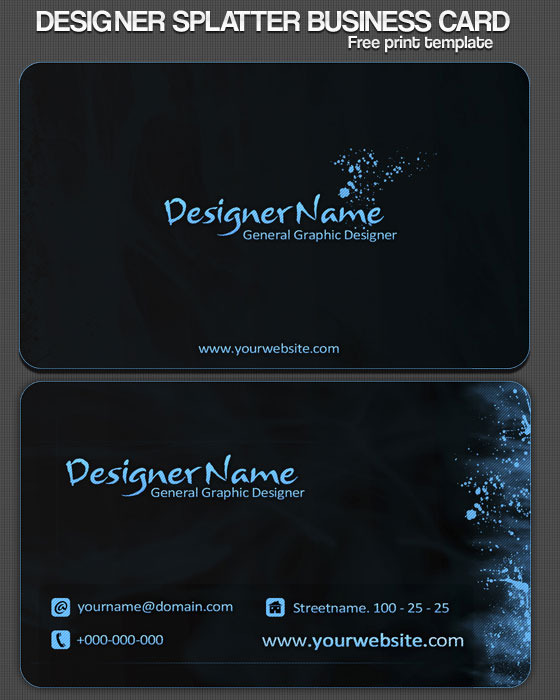 30 psd business card templates web3mantra for Business cards templates download