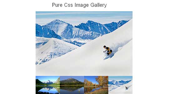 CSS Image Galleries