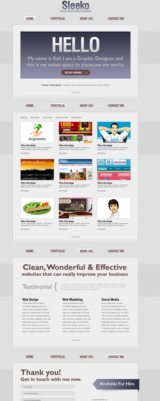PSD Website Templates