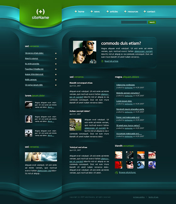 PSD Website Tempales