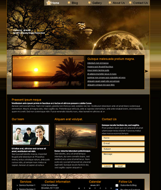 Free Flash Website Templates