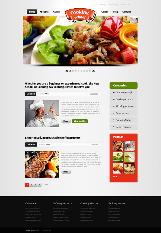 15 food and drink wp themes 90 magazine wordpress food themes forumfinder Image collections