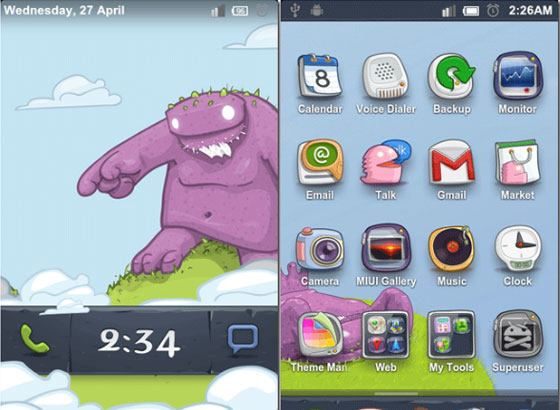 Cartoon Mob Theme 27 Adet Android Teması