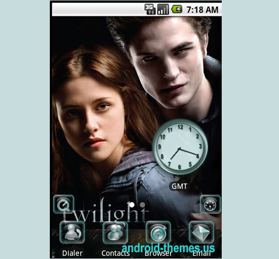 The Twilight Saga 27 Adet Android Teması