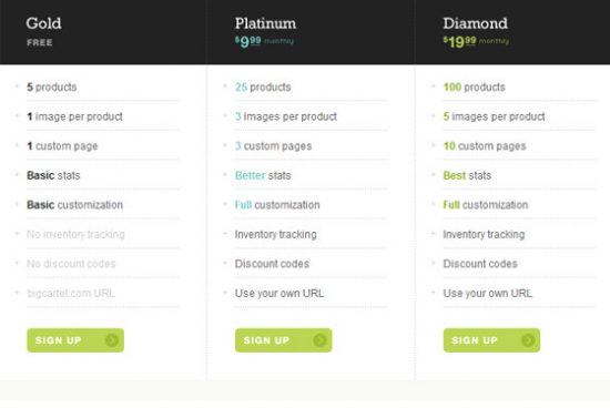 pricetable-51 Top 13 Web Design Price Tables Example
