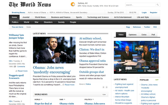 younews joomla news portal steam