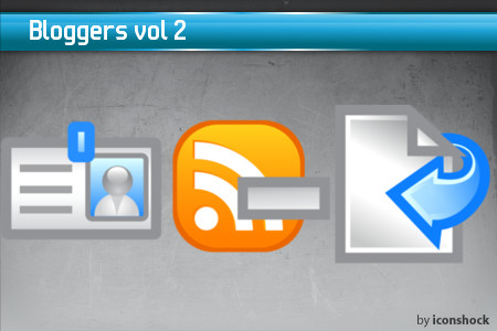 vol21 7 Free Bloggers Icons from IconShock