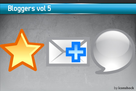 vol51 7 Free Bloggers Icons from IconShock