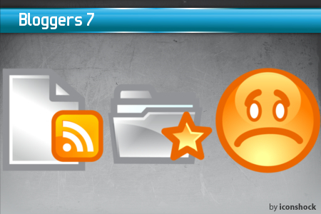vol71 7 Free Bloggers Icons from IconShock