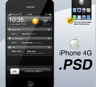 IphonePsd High Quality Apple iPhone 4G PSD File Free Download