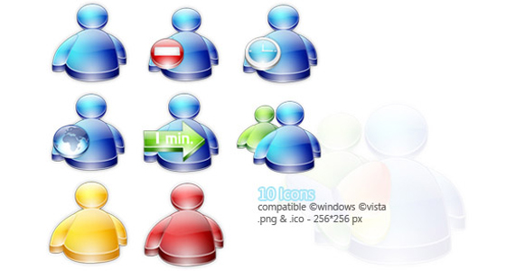 12 Web2.0 website icons 3D models