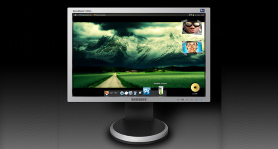Beautifull LCD screens PSD
