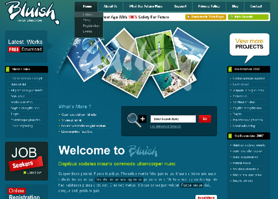 Fresh Psd Themes