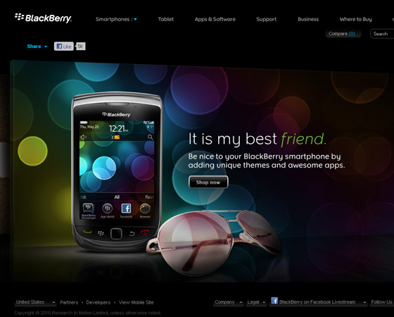 blackberry 20 + Fresh & Beautiful Corporate Websites Inspiration