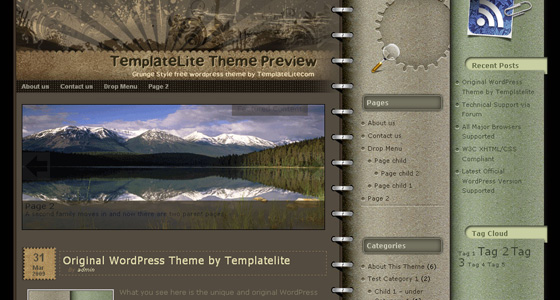 Wordpress Grunge Themes