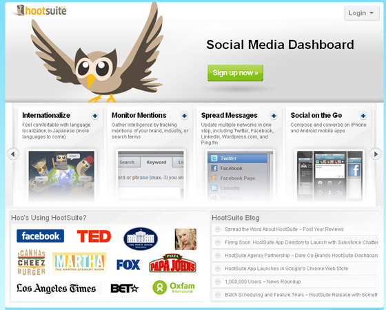 hootsuite 20 + Fresh & Beautiful Corporate Websites Inspiration