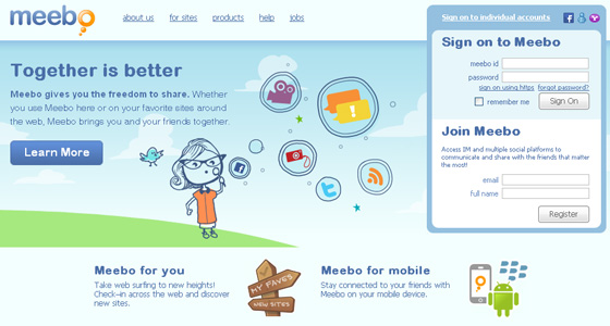 meebo 20+ iPhone optimized Websites for Your Inspiration