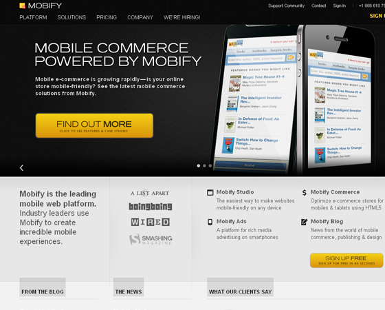 mobify 20 + Fresh & Beautiful Corporate Websites Inspiration