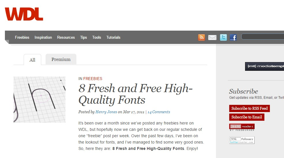 Best Design Blogs That Release Quality Freebies