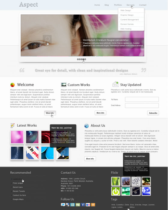 Photoshop Website Templates