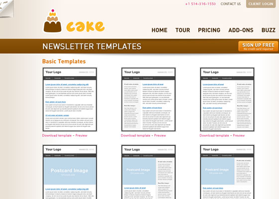 cake-mail Email Newsletter Template Providers