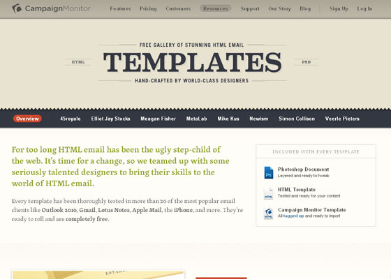 campaign-monitor Email Newsletter Template Providers