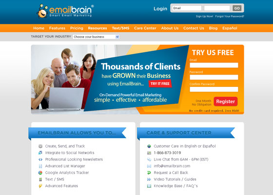 email-brain Email Newsletter Template Providers