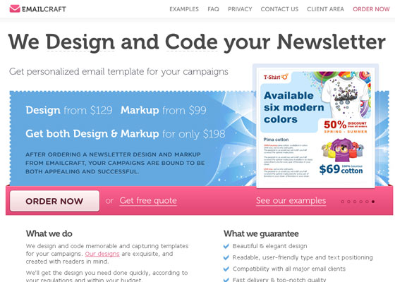 email-craft Email Newsletter Template Providers
