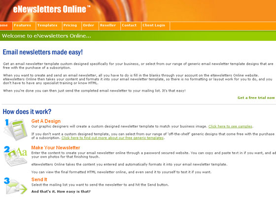 enews-letters-online Email Newsletter Template Providers
