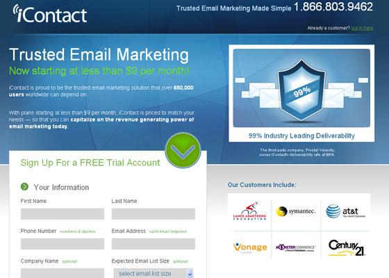 icontact Email Newsletter Template Providers
