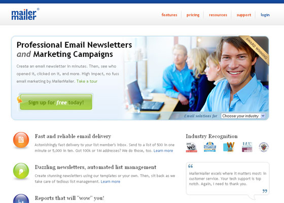 eMail Newsletter Providers