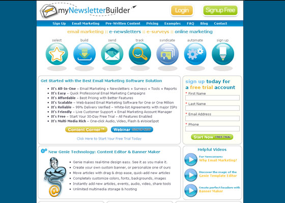 mynewsletter-builder Email Newsletter Template Providers