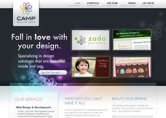 camp-creative-group 30+ Business Web design Inspiration