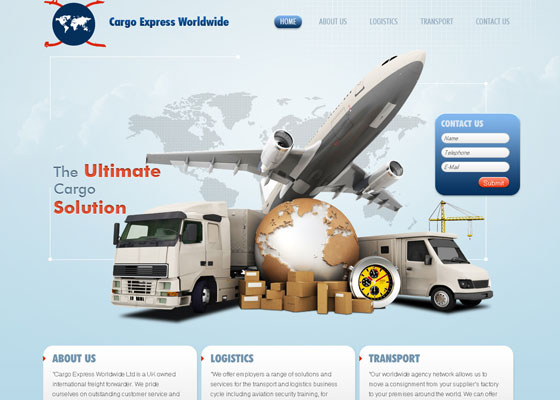 cargo-express-worldwide 30+ Business Web design Inspiration