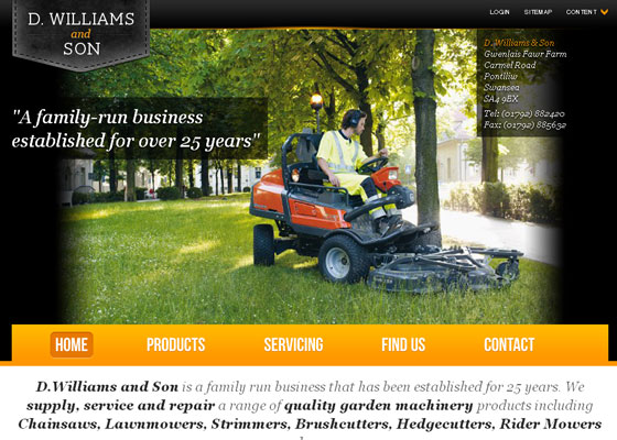 dwilliamsandson 30+ Business Web design Inspiration