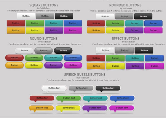 free-buttons1 Ultimate Collection of Free PSD Buttons