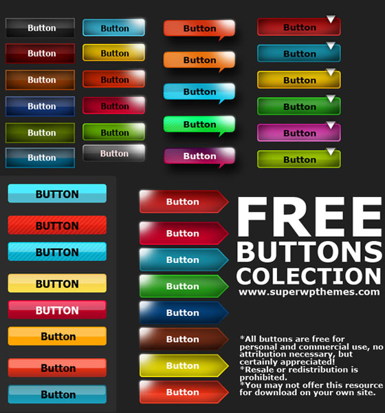 free-buttons15 Ultimate Collection of Free PSD Buttons