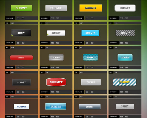 free-buttons4 Ultimate Collection of Free PSD Buttons