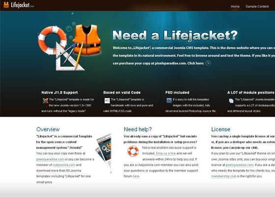lifejacket 30+ Business Web design Inspiration